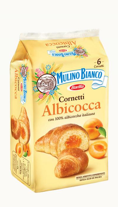 Croissant Cornetti Farciti Albicocca 300g Mulino Bianco