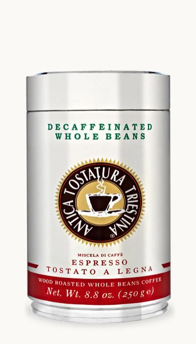 Káva Decaffeinated Whole Beans 250g, zrnková, v dóze